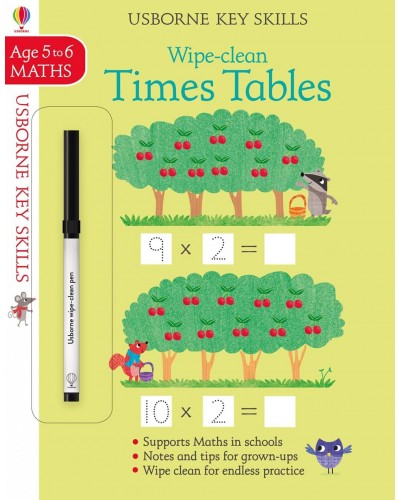 Wipe-clean Times Tables 5-6 years - Usborne Key Skills