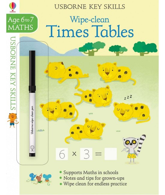 Wipe-clean Times Tables 6-7 years - Usborne Key Skills